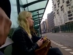 Flashing my dick in public bus stop