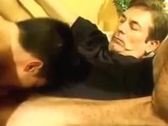 Daddy and juvenile boyfrend fucking hard.