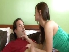 Cute Brunette Hair Legal Age Teenager Love Aged Fellow.