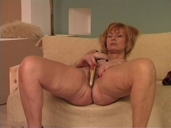 Granny uses a sex-toy