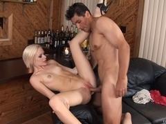 Nervous Legal Age Teenager's 1St Porn Vid