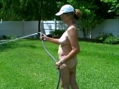 Nude in the Yard