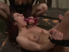Katy Borman fuck the lusty babe with dildo