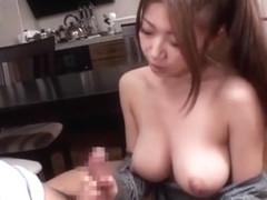 Exotic Japanese chick Yuka Minase in Amazing Big Tits, POV JAV movie