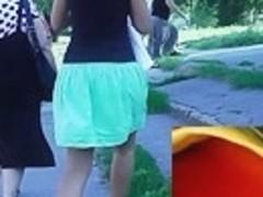 Cellulites arse up petticoat of juvenile cutie