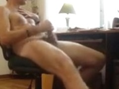 Thick fucking puddle of cum on my stomach watching porn
