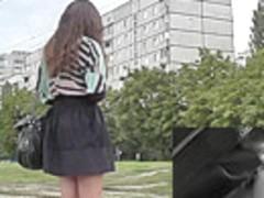 Wonderful upskirt free video about amateur brunette