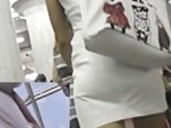 Classy subway upskirt footage