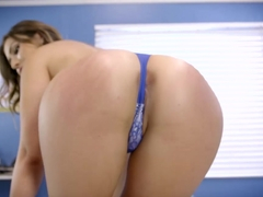 Blowjob enthusiast Melissa Moore is given a thorough exam