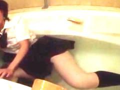 Horny Japanese whore in Crazy Pissing, Fetish JAV clip