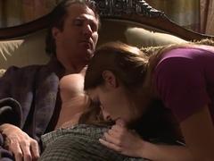 Hottest pornstar Lindsey Meadows in crazy blowjob, cumshots sex clip