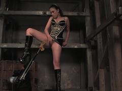Amazing squirting, fetish xxx clip with hottest pornstar Sakura Scott from Fuckingmachines