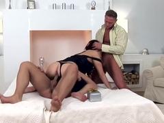 Horny pornstar Aisha Sun in incredible facial, dp sex clip