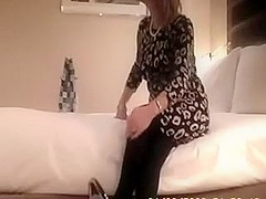 Fabulous amateur video with stockings, mature, wife, couple scenes