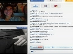 Chatroulette- 2 French Beauties Initiation to be sucked