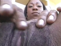 Black Girl Finger Fucks Solo Talks Dirty