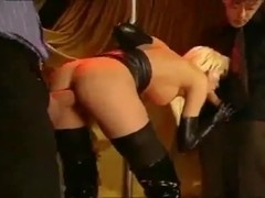 Threesome in leather Boots