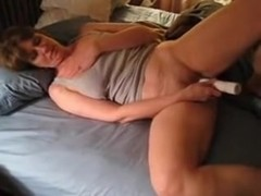 Cathy is a real slut she loves to fuck her pussy with a long vibrator for you all to see
