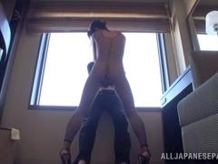 Marie Kimura hot Asian milf shows off in high heels