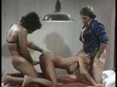 Veronica Hart, John Alderman, Samantha Fox in vintage xxx scene