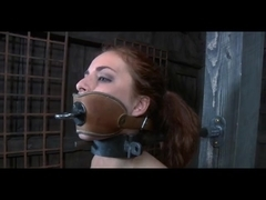 S&M Villein Ashley Graham Shackled and Whipped by Sado Slaver