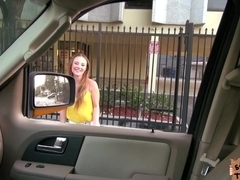 Pretty Sam takes the virginity of the driver in quickie sex