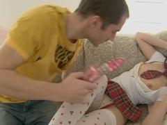 Dildo and stockings sex movie scene 2