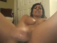 Big Tits Babe Masturbating