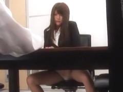Hottest Japanese model Megu Fujiura in Horny Secretary, Threesomes JAV clip