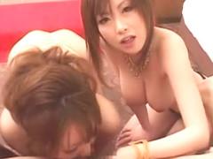 Horny Japanese model Megu Ayase, Rio Hamasaki, Chichi Asada in Hottest Showers, Threesomes JAV sce.