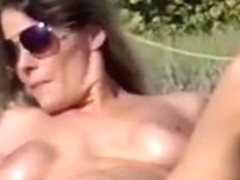 exhibitionist wife on beach