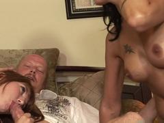 Incredible pornstars Delila Darling, Zoey Holiday, Zoey Holloway in Crazy Blowjob, MILF porn scene