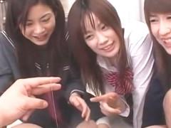 Horny Japanese slut Yuka Satsuki, Anna Watase, Kokoro Ikeno in Incredible Fingering, Foot Fetish J.