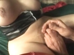 big tits brunette shemale dominate her man