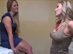 Sexy Holly Heart eats Brianna Ray