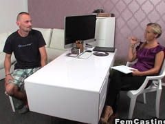 Mature amateur guy wanking cock in casting