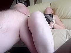 Mature hairy wife gets cunnilingus