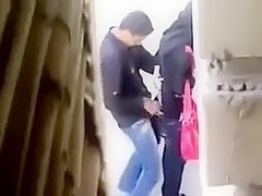 Hidden Webcam Caught Arab College Paramour Public Place Sex