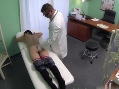 squirting milf wants breast implants and gets a creampie injection instead