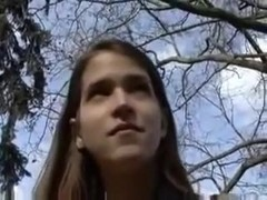 Beautiful College Girl Paid To Fuck Outside