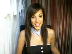 Webcam sex show with a hot naked amateur French slut