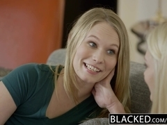 BLACKED Alli Rae and Dakota James cum on a BBC