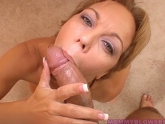 Lascivious Breasty Mommy Blows Youthful Dick