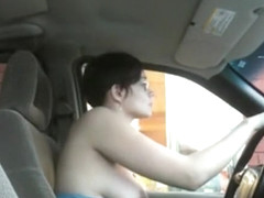 Flashing at the drive-by restaurant