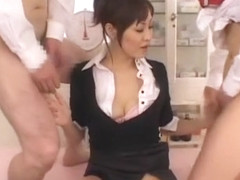 Fabulous Japanese chick Natsumi Horiguchi in Incredible Facial, Threesomes JAV clip