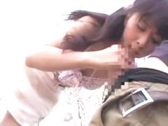 Fabulous Japanese girl Yuka Osawa in Exotic Voyeur, Public JAV clip