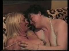 Lesbian fun in the lounge