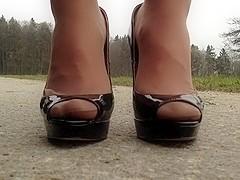 Posing deluxe high heels