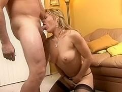 Blonde MILF Kelly Leigh Sucks Dick