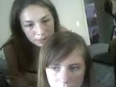Three teen friends in erotic webcam
